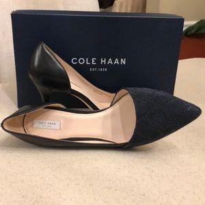 Cole Haan Blue & Black Highline Pump Heels